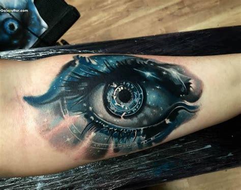 tattoo eyeball blue groovy forearm decorated with 3d blue eye tattoo photos
