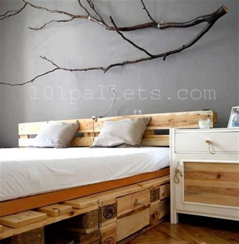 Pallet Bed by Diy Unique Style Pallets Bed 101 Pallets