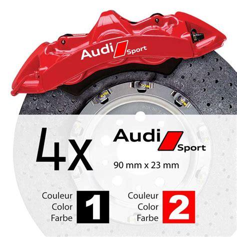 Audi Sport Aufkleber by Audi Sport Logo Brake Decals Set