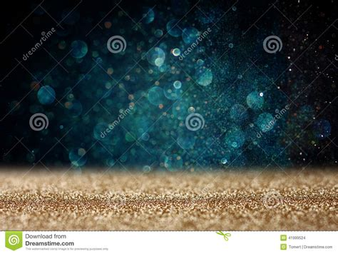 Glimmer Lights Glitter Vintage Lights Background Light Gold And Blue