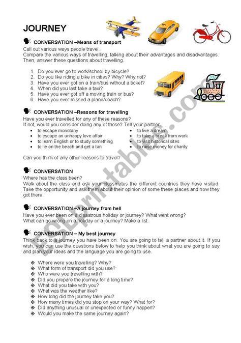 S Journey Worksheet