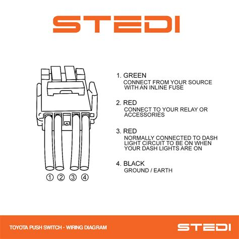 stedi push button carling type rocker switch