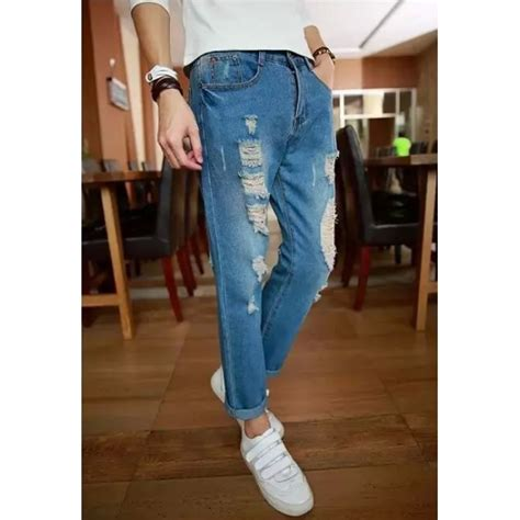 Celana Hitam Slim Fit Humbler Store 11 celana slimfit sobek sobek hitam 1aa22ec0