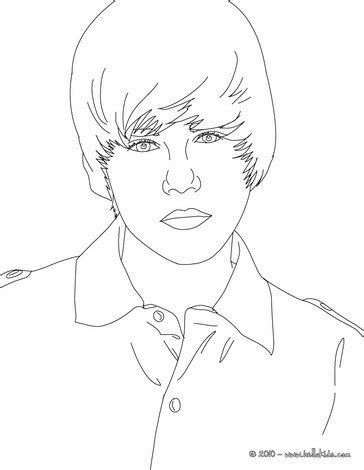justin bieber coloring pages that you can print justin bieber close up coloring pages hellokids com