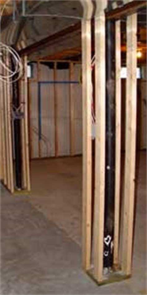basement support poles how to frame basement poles to help when framing basement support poles use cls to