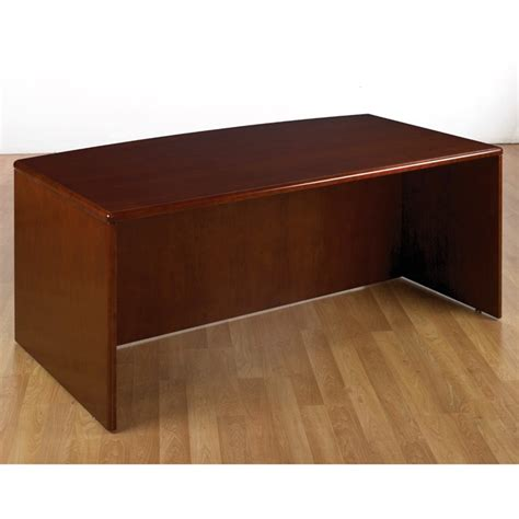 Bow Top Desk Shell 72x39 Dark Cherry Wood Cherry Wood Desk
