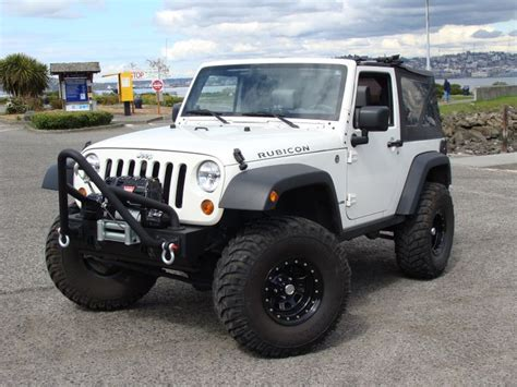 Clean And Classy Jeep Wrangler Jk Stone White Rubicon