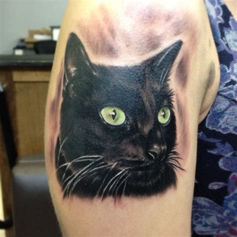 black cat tattoos portrait tattoos designs ideas and meaning tattoos for you