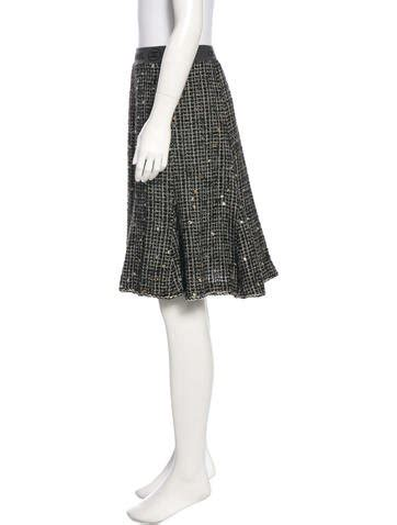 Tweed A Line Skirt chanel tweed a line skirt clothing cha180178 the