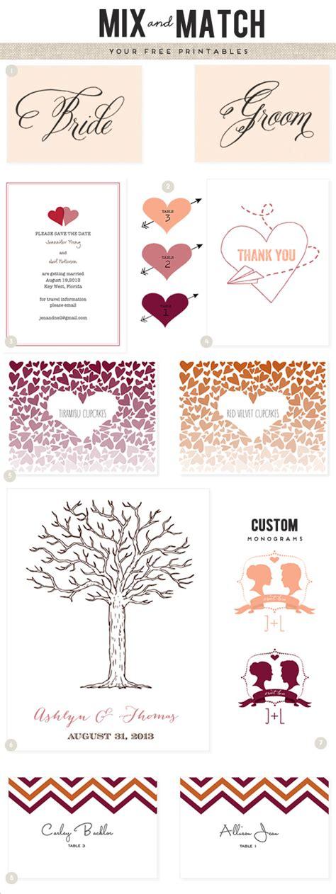 free wedding templates printable 8 best images of free wedding template printable