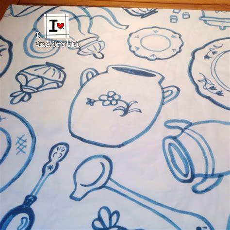 disegni divani trapuntino da divano bianco con disegni azzurri per la