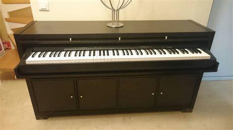 mueble estanteria ikea mueble para piano hecho con estanteria kallax de ikea