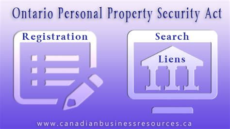 Ontario Property Records Ontario Personal Property Security Registration Search
