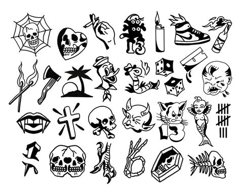 tattoos on friday the 13th friday the 13th flash sheet gnostic tattoos