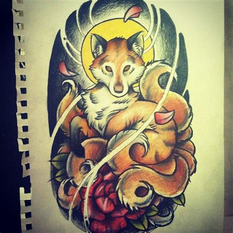 nine tailed fox tattoo nine tailed fox images
