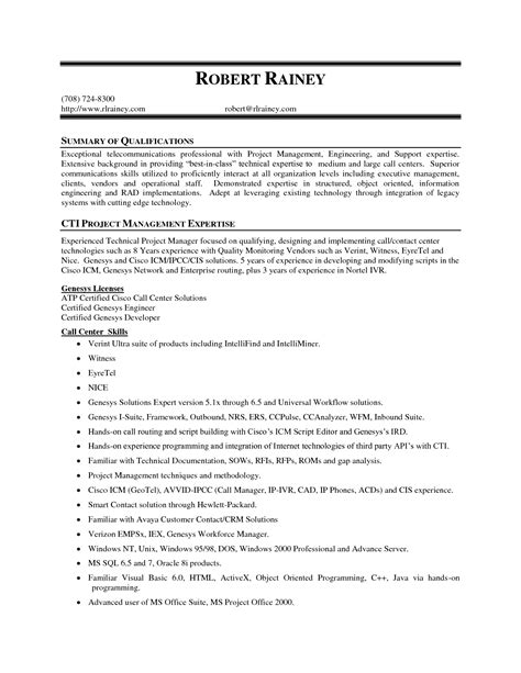 resume ability summary exles sle resume highlights and qualifications resume