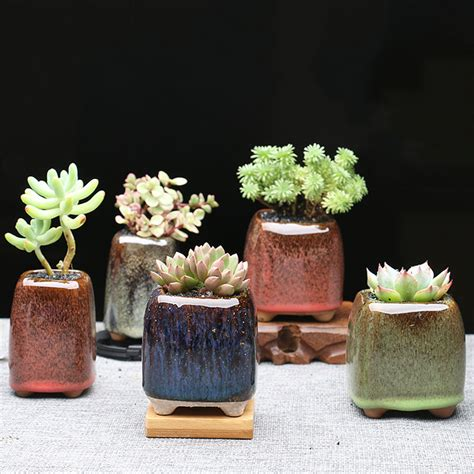 shop popular succulent plant pot from china aliexpress popular glazed clay pot buy cheap glazed clay pot lots