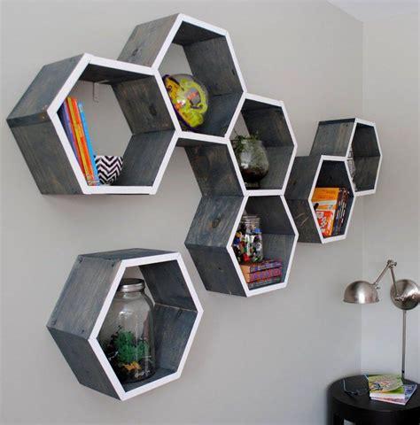 honeycomb home design shape shelves with geometric designs