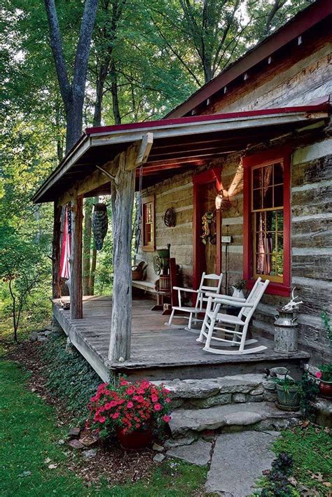 cozy log cabin porch home inspirtations pinterest a log cabin porch handmade houses with noah bradley