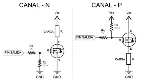 transistor mosfet zona ohmica controlar grandes cargas con arduino y transistor mosfet