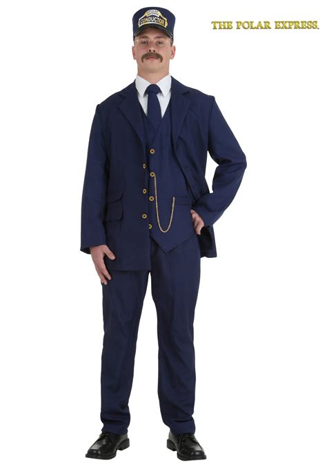 Adlt Out Of The Blue polar express conductor costume