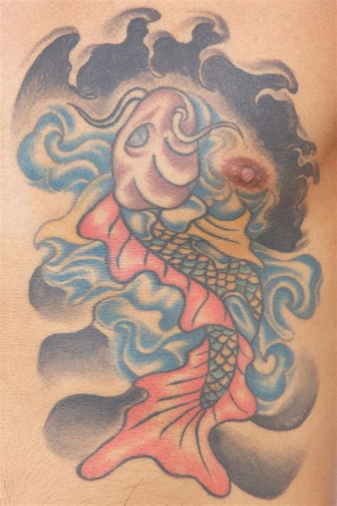 koi fish chest tattoo koi tattoo meaning