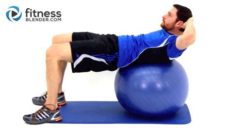challenging exercise ball ab workout fitness blender