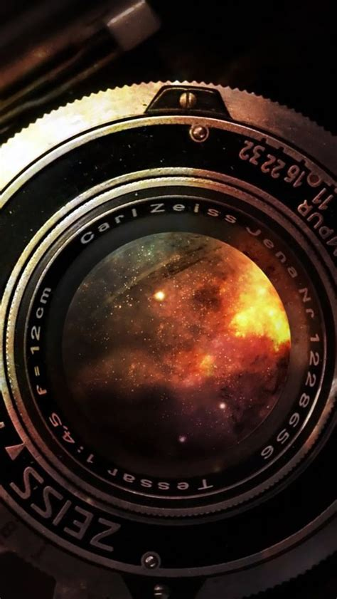 Camera Wallpaper App Iphone | space in vintage camera lens iphone 5 wallpaper download