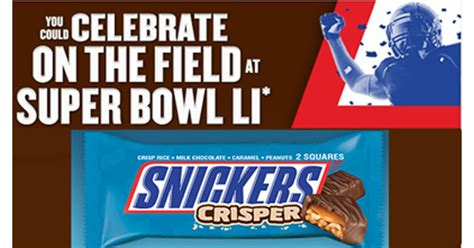 Snickers Super Bowl Sweepstakes - snickers nfl super bowl instant win game 200 200 winners shareyourfreebies