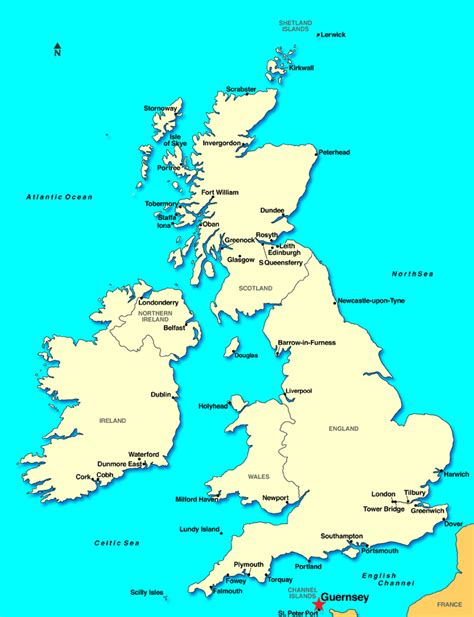 map uk and channel islands guernsey channel islands discount cruises