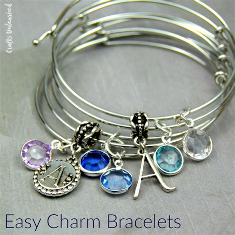 jewelry charms diy charm bracelet bangles tutorial crafts unleashed