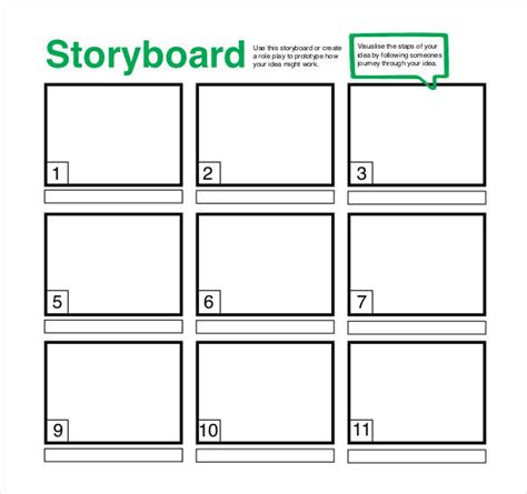 Unique Printable Storyboard Templates Photo Resume Ideas Storyboard Ppt Template Free
