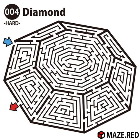a4 printable maze difficult maze of the diamond laberintos pinterest