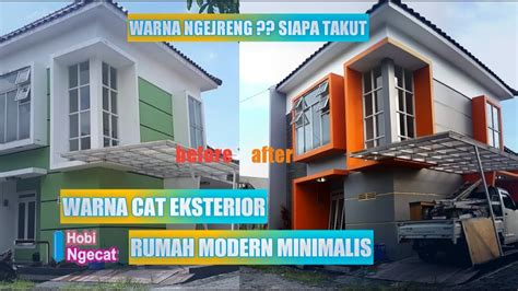 warna cat rumah modern minimalis orange  abu abu youtube