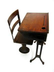 Small Antique Desk And Chair Antique School Desk Child S Desk With Separate Chair