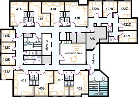 college dorm floor plans student housing floor plans