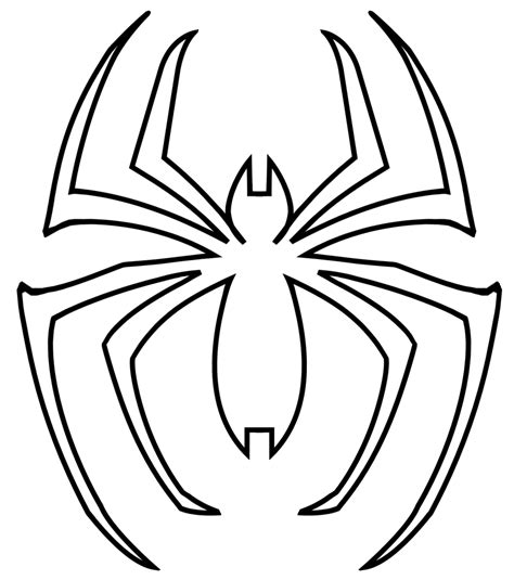 symbol templates best photos of spider logo outline symbol spider