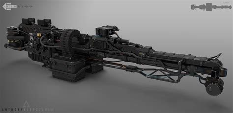 Of Robots Heavy Gun Barrel Ng 4 artstation mech assault rifle anthony klepczarek