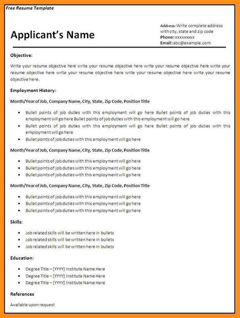 Fillable Resume Templates by Fillable Resume Template 40 Blank Templates Free Sles
