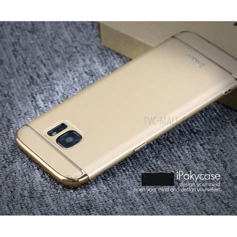 Ipaky Samsung Galaxy S7 Gold ipaky 3 in 1 electroplating pc protector cover for samsung