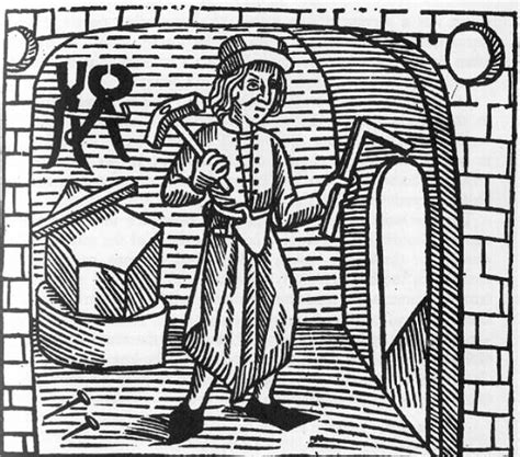stylised image   medieval smith  william caxtons