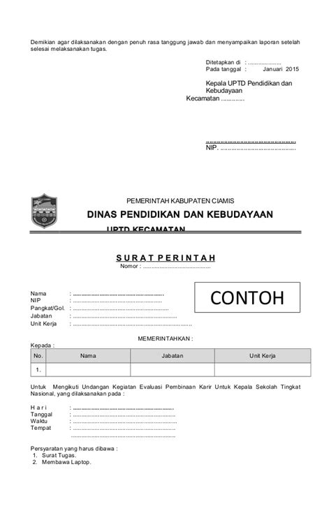 Contoh Surat Mutasi by Format Contoh Surat Dan Mutasi 2015 Copy