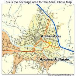 aerial photography map of grants pass or oregon