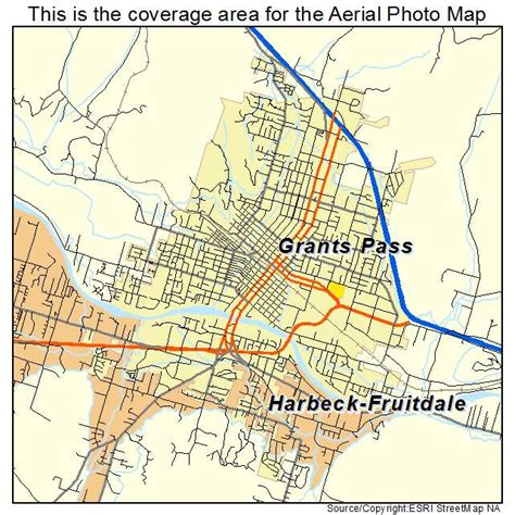map of oregon grants pass aerial photography map of grants pass or oregon
