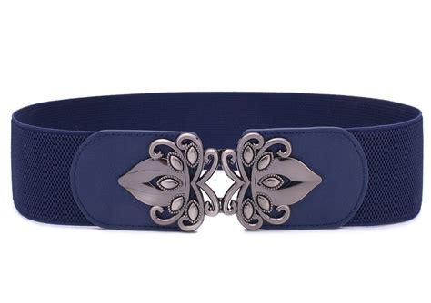 syuer womens vintage wide elastic stretch waist belt retro