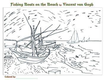 coloring book vincent van 3791343319 vincent van gogh coloring pages by smart kids worksheets tpt