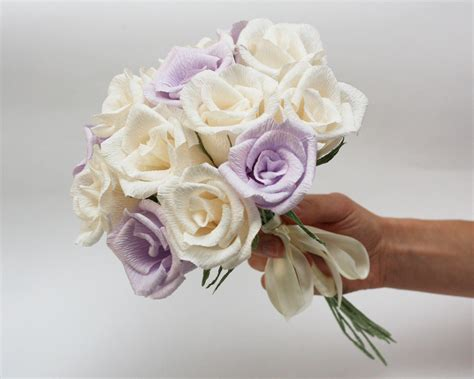 How To Make Bouquet Of Paper Flowers - wedding bouquet paper flower bouquet bridesmaids flowers