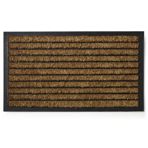 Rubber And Coir Doormat wilko rubber coir doormat 70 x 40cm at wilko