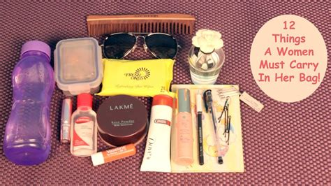 12 Things Every Should In Purse by 12 Things A Must Carry In Bag
