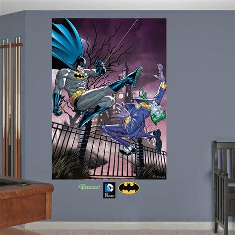 batman wall mural batman and the joker battle mural wall decal
